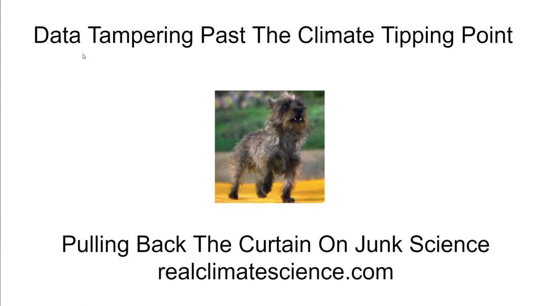 Data tampering past the climate tipping point