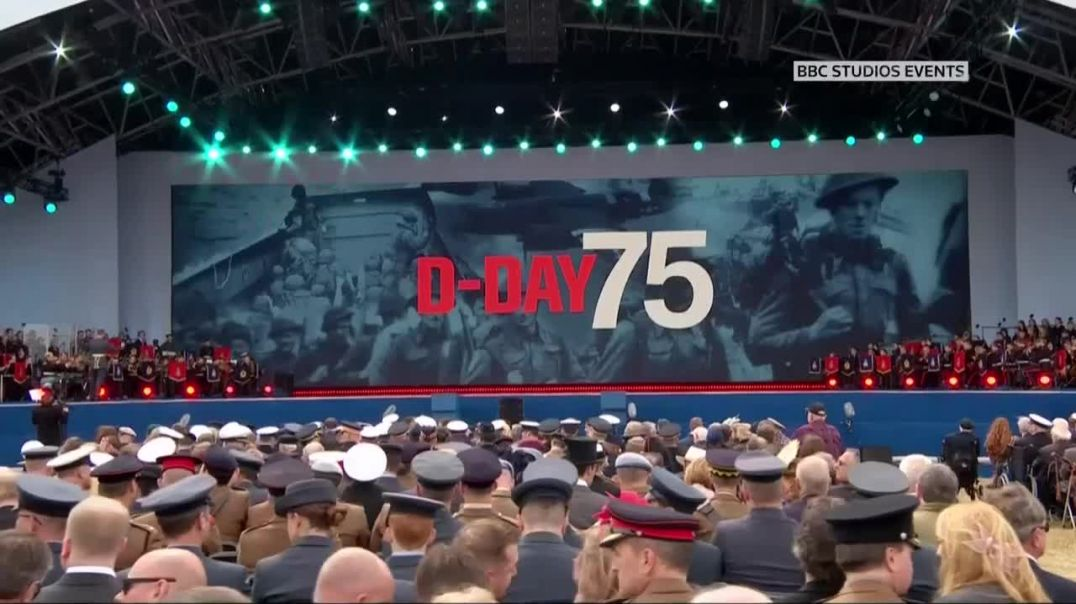 Trump attends ceremony to commemorate 75th anniversary of D-Day