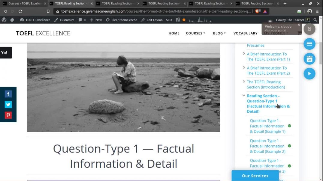 TOEFL Reading Section - Factual Information & Detail Questions (Summary) - TOEFL Excellence