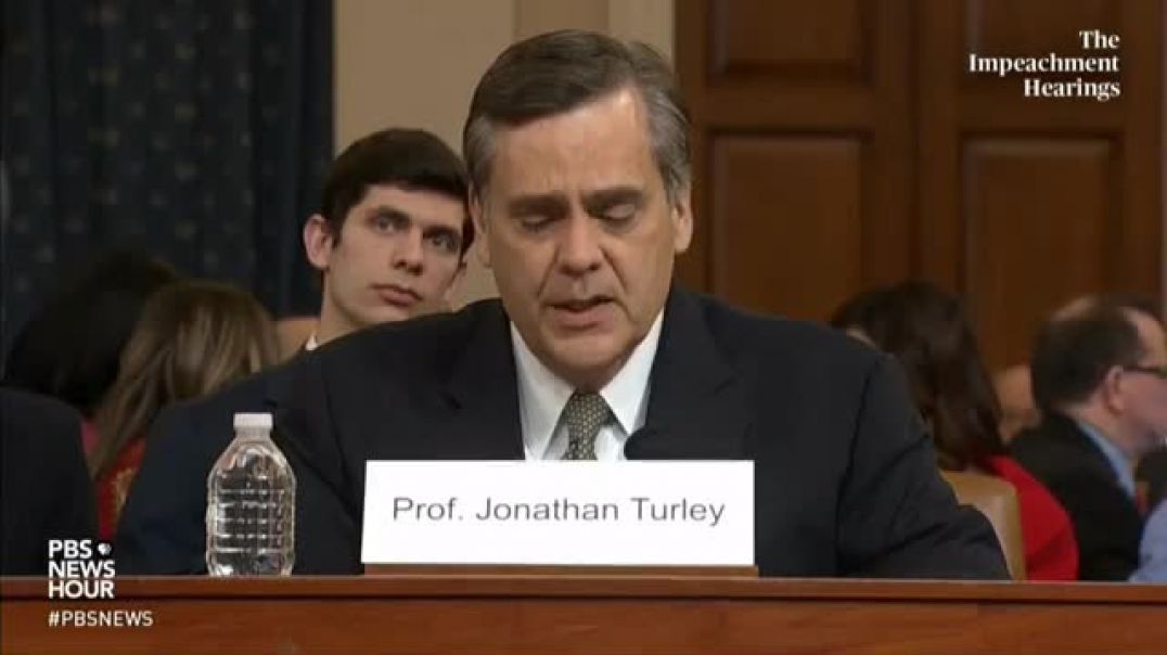 """Turley: Dems' Impeachment Would Create A """"Dangerous Precedent"""" & """"Fails To Satisfy"""" Past Standar"""