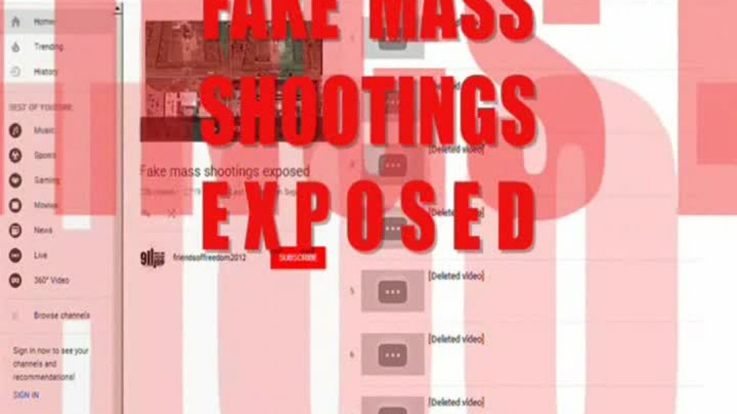 What YouTube Wants You to Know - About FAKE SHOOTINGS