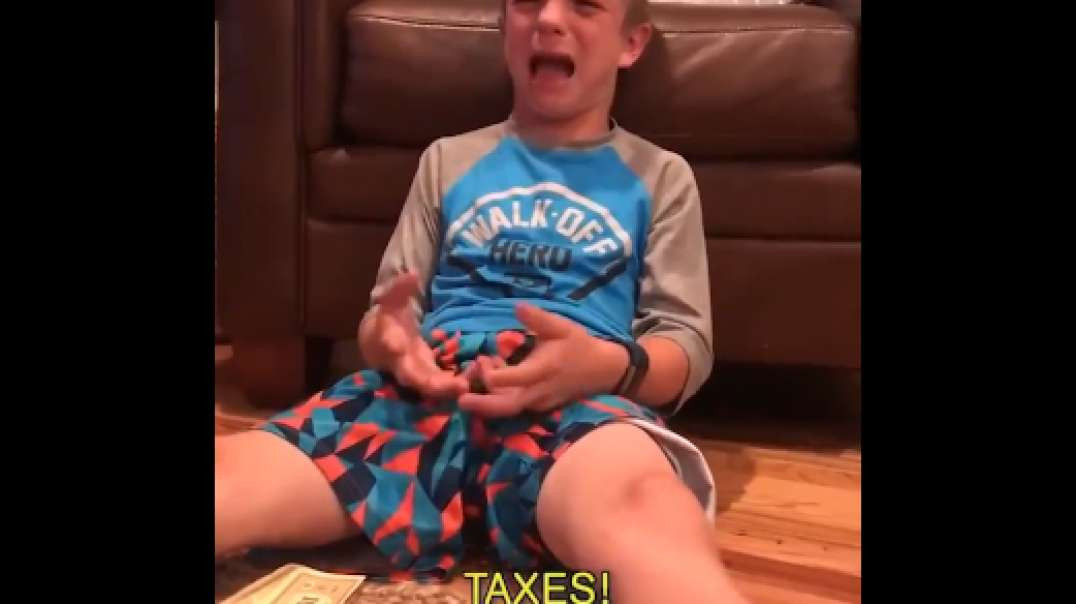 The truth of Socialism hit this kid early in life