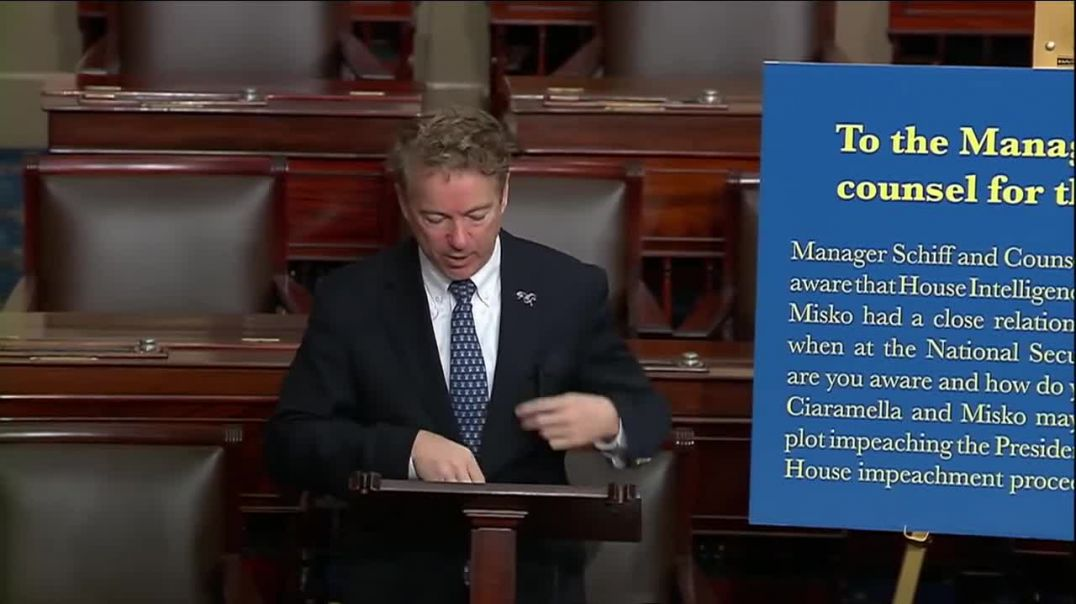 Sen. Rand Paul The Constitution Protects Debate and the Asking of Questions