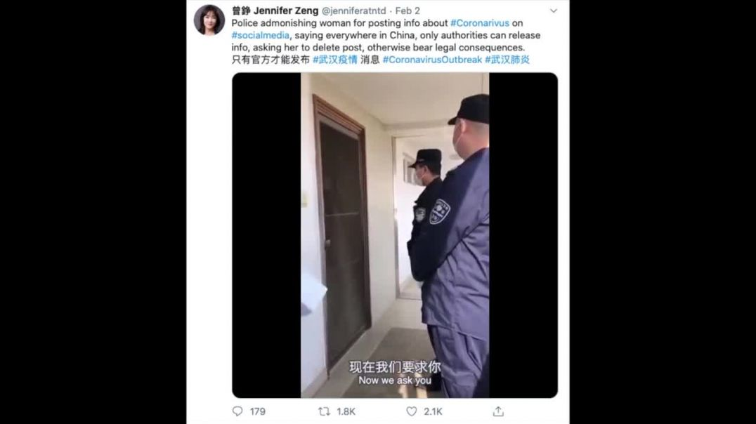 CORONAVIRUS WHISTLEBLOWER ARRESTED IN CHINA FOR POSTING THIS VIDEO