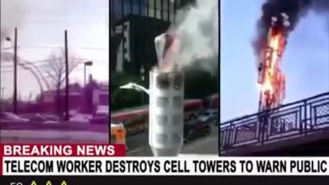 Man Destroys 5g towers to WARN the public about the massive harm to us-- Dangers & Negat