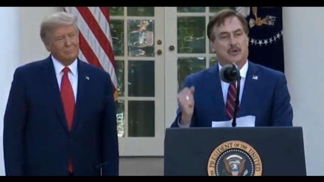 My Pillow Mike Lindell At Trump Presser _Read Your Bible and Pray_