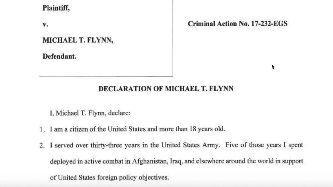 Reading: Gen. Flynn Revokes Guilty Plea PM