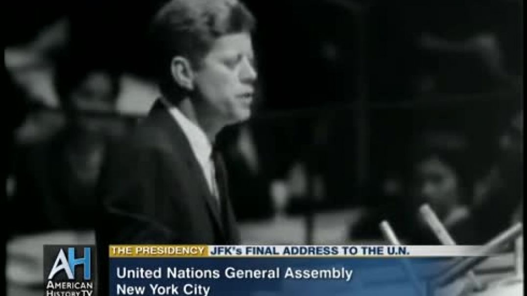 ⁣President Kennedy's Final Address to the United Nations General Assembly
