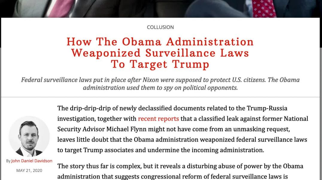READING of Federalist-How Obama Adm Weaponized Surveillance Laws to Target Trump
