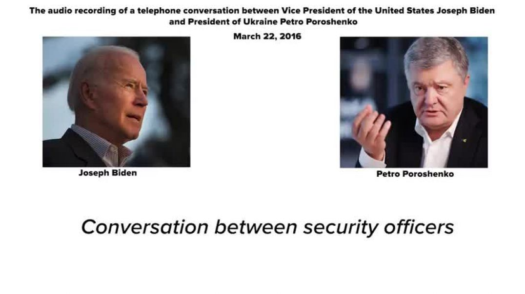 An audio recording of a conversation between Joe Biden and Petro Poroshenko on M_HIGH(1)