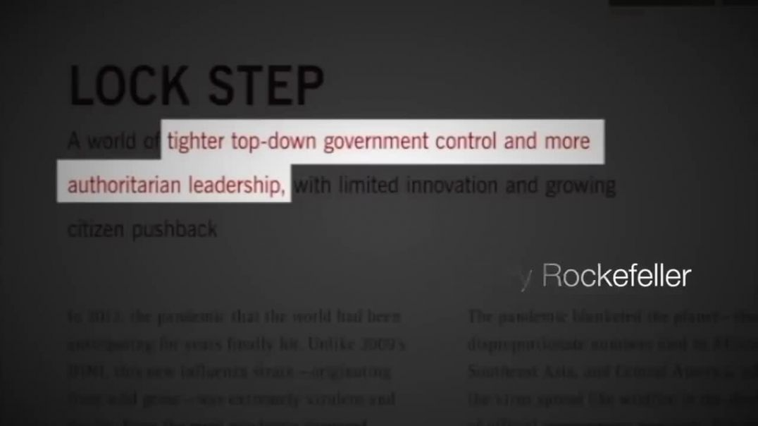 Operation Lockstep ~ Rockefeller Plan for Martial Law Written in 2010