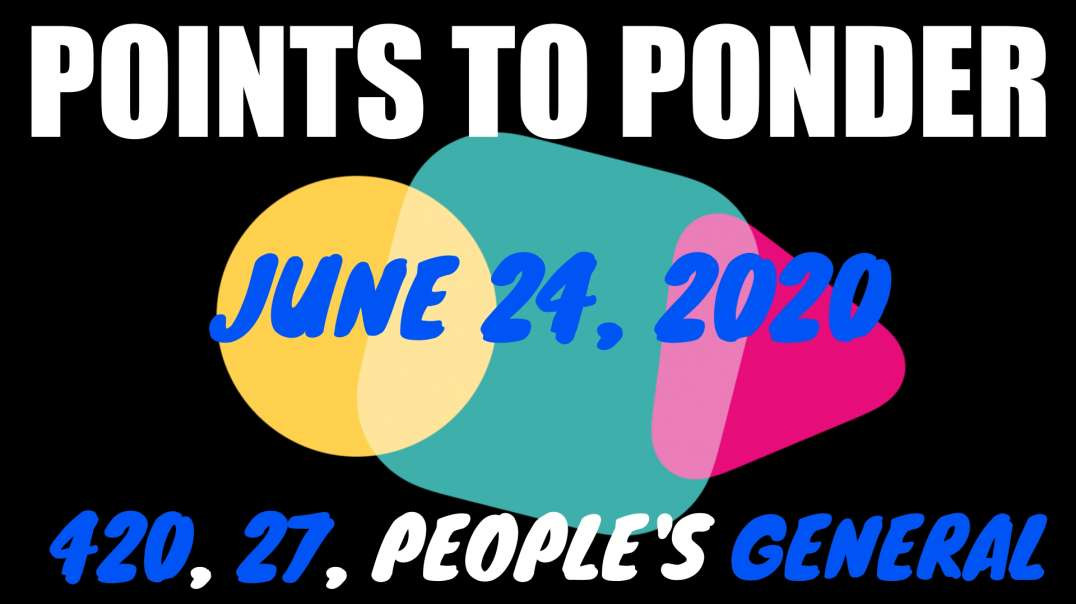 CRYPTIC COMMZ: PONDER POINTS - 420, 27, PEOPLE'S GENERAL