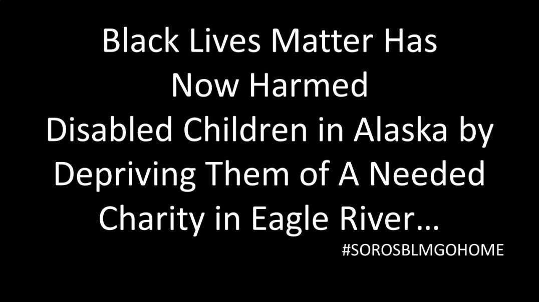 Eagle River Targeted. BLM WRECKS Disabled Children's Charity. Community Unites: SOROS BLM GO HOME!