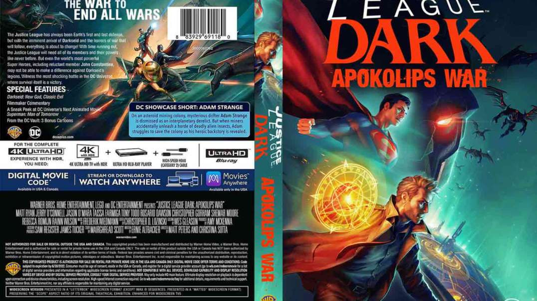 Justice League Dark: Apokolips War (2020) WATCH FULL MOVIE ONLINE 720P HD