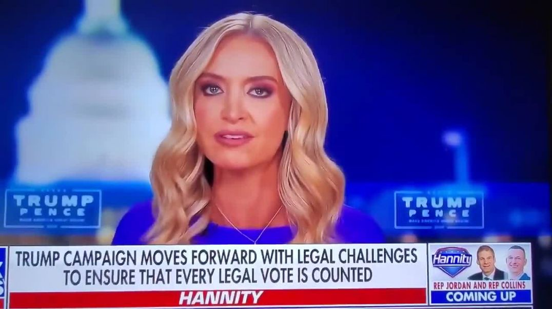 Kayleigh McEnany Trump Administration has EVIDENCE of VOTER FRAUD
