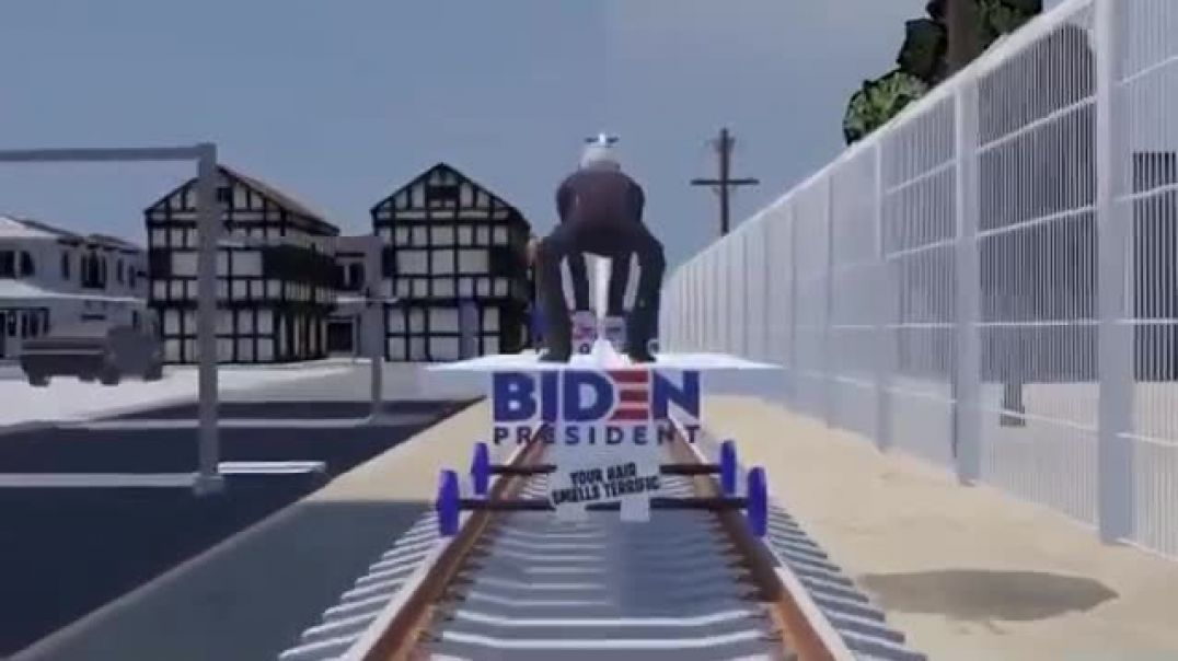 Trump Train vs. Sniffy #CreepyJoe