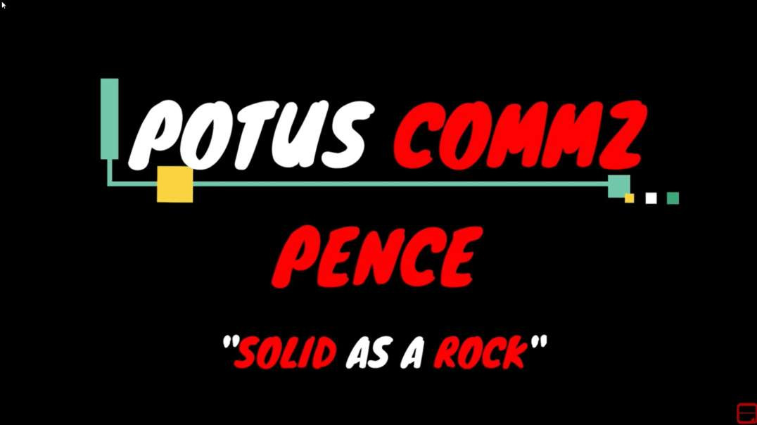 POTUS COMMZ: PENCE SOLID AS A ROCK?❗️❗️❗️