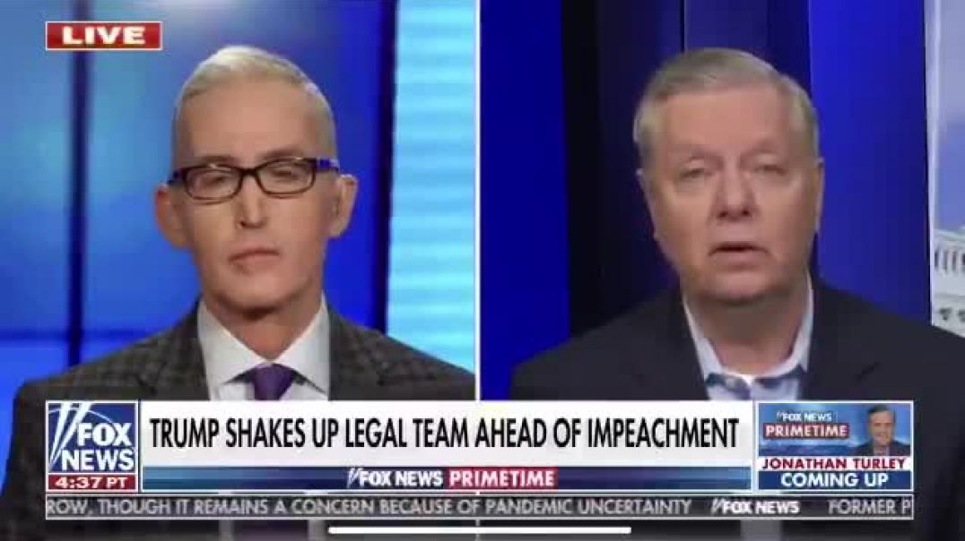 Lindsey Graham repeats his warning not to call witnesses during the trial