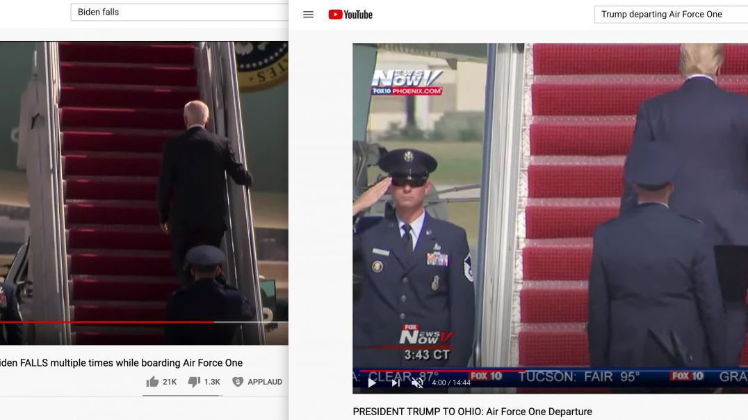Comparing Biden vs Trump Air Force One Boarding