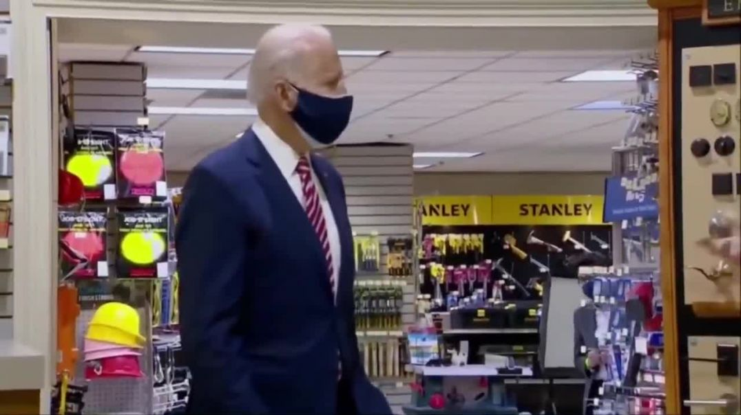 Biden seems confused as reporters shout out questions during his visit to DC hardware store