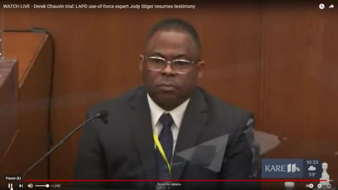 BREAKING Chauvin lawyer plays clip of George Floyd, asks if he is saying I ate too many drugs
