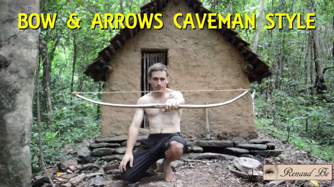 MAKING A BOW AND ARROWS CAVEMAN STYLE