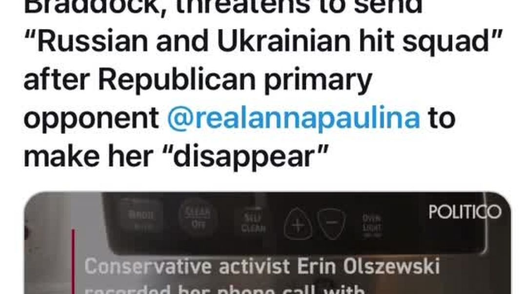 Republican running for Congress William Braddock Threatens to send Russian Hit Squad against his opp