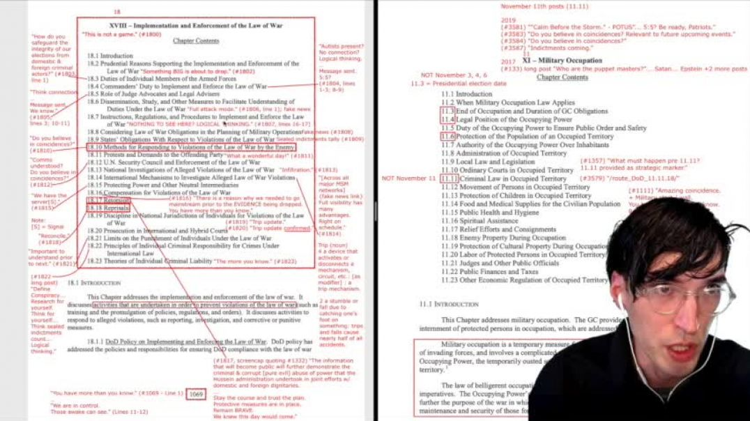 Majic Eyes Only 3-23-32 ? THE LAW OF WAR chapter 18 & 11 digs ??? MILITARY TRIBUNALS ??