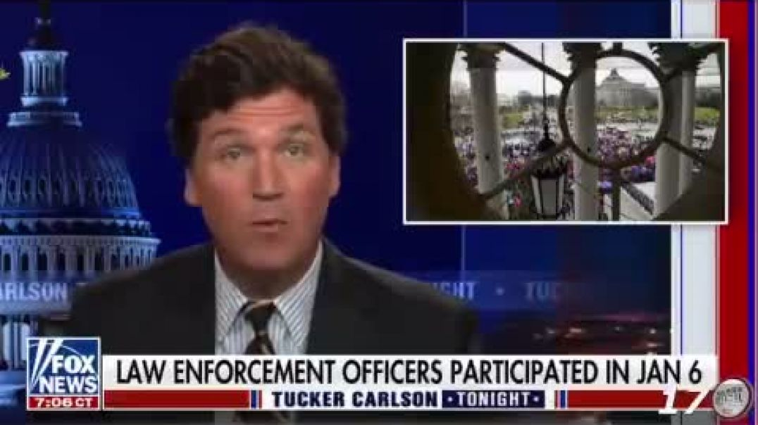 TuckerCarlson says according to government court filings law enforcement officers participated in th