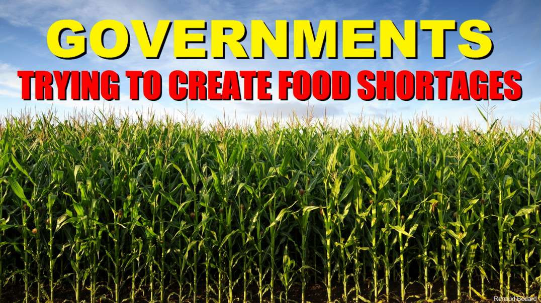 GOVERNMENTS TRYING TO CREATE FOOD SHORTAGES