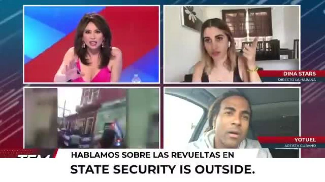 BREAKING -  - Cuban state security forces detain independent journalist @DinaStars_  as she she was