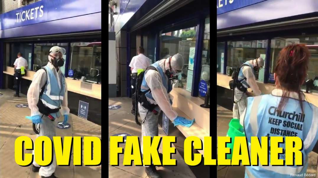 FAKE COVID CLEANERS FOR THE FAKE NEWS MEDIA