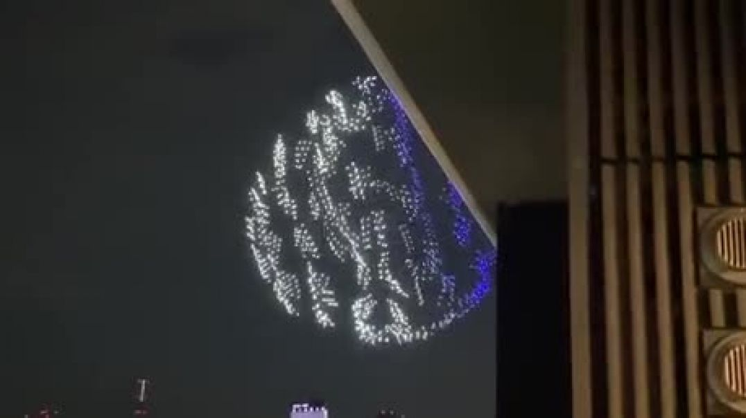 1800 drones above the National Stadium in Tokyo