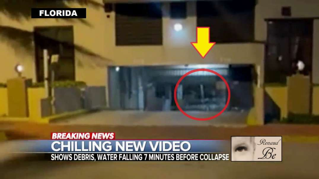 VIDEO MINUTES BEFORE BUILDING COLLAPSE IN FLORIDA
